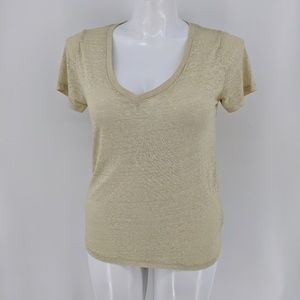 Urban outfitters v neck burnout tee over sized